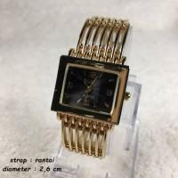 Jam tangan Guess Rantai Gold untuk Wanita / Cewek Mewah
