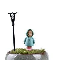 miniature little girl totoro dekorasi terrarium