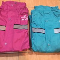 Jas hujan TAKACHI khusus warna pink dan tosca size M L XL