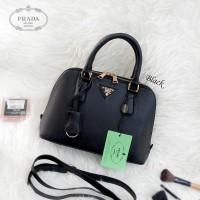 Tas Wanita cewek branded fashion handbags Prada Alma Mini Black