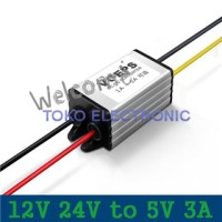 12V 24V to 5V 3A DC Buck Woterproof Converter Step Down Regulator