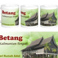 Jual Mug Rumah Adat Betang Kalimantan Tengah Kota Bekasi Mungil Love Store Tokopedia