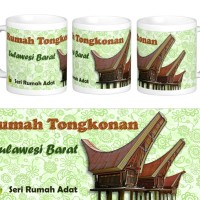 Mug Rumah Adat Tongkonan, Sulawesi Barat