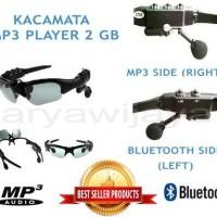 Kacamata / Sunglass Mp3 Player Bluetooth 2 Gb