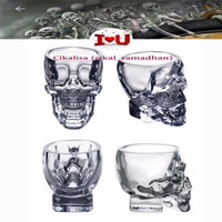 Crystal Skull Head Vodka Whiskey Shot Glass
