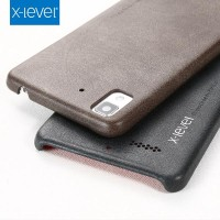 Leather Hard Soft Case Oppo R7 / Lite Casing Hp Kulit Premium Cover X-