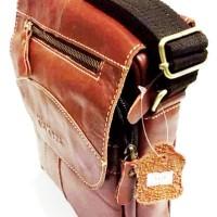 Tas sling bag vintage pria wanita selempang kulit asli kickers import