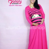 Baju Hamil Unik Momoty Maxi Dress Bp1 Pink - Juni Online Shop
