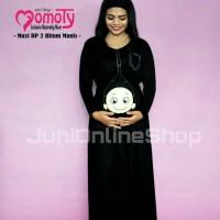 Baju Hamil Unik Momoty Maxi Dress Bp2 Hitam - Juni Online Shop