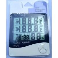 Jual HTC-2 Display 3 Baris Termometer Digital + Hygrometer + Jam HTC2 HTC 2 Murah