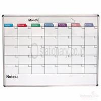 Papan Whiteboard Calendar PIXELS uk 90 x 120 cm