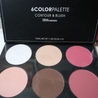 BH Cosmetics Professional 6 Colour Contour Blush Palette