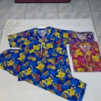 Jual baju tidur batik/stelan baju tidur pokemon /piyama uk M/piyama dewasa Murah