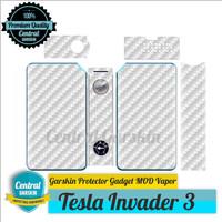 Garskin Mod vapor Tesla Invader 3 - Motif Carbon putih
