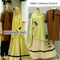 Sweet larissa couple baju gamis sarimbit cantik elegan