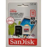 Memory Memori Card MicroSD Micro SD Sandisk Ultra Class 10 16GB, 16 GB