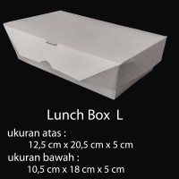 Lunch Box Paper uk L / box makanan kertas / take away box