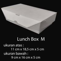 Lunch Box Paper uk M / box makanan kertas / take away box