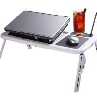 Meja Laptop Lipat E Cooler - Laptop Stand Desk - LT 810 - Putih