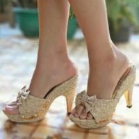 Jual [Grosir]-Sandal High Heels Wanita Brukat SDH37 Murah