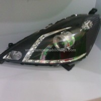 harga Headlamp Honda Jazz RS 08-11 LED Projector Crystal Black Tokopedia.com