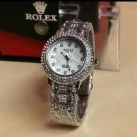 Jam Tangan Wanita Rolex Diamond Kw super Silver