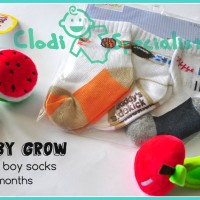 [Isi 3 Set] Baby Grow Kaos Kaki Bayi Laki 6-12 Bulan High Quality