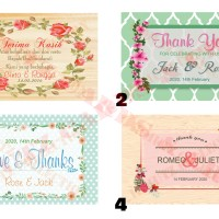 Kartu Ucapan Terima Kasih Full Colour untuk Souvenir Nikah