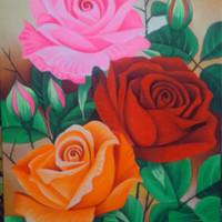 harga Lukisan Bunga Mawar untuk Valentine Day. Tokopedia.com