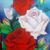 harga Lukisan Bunga Mawar Cocok untuk Dekorasi Ruangan Anda. Tokopedia.com