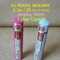 ATK0105FC (Isi20lead) 2B Refill Isi Pensil 0.5mm Faber Castell Mekanik