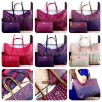 Lacoste Multi Colours Top Zipper Bag #11027/Tas Import/Shoulder Bag