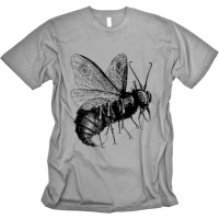 Beelzebub on Slate American Apparel Tshirt Soft Cotton Combed