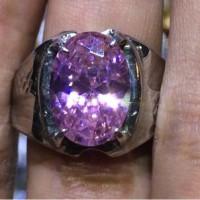 Cincin Titanium Batu Pink Lilac Small Size HQ