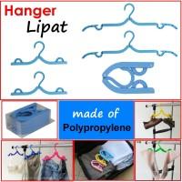 harga Sz 5pcs hanger baju travel gantungan jemuran lipat foldable Sz-hg5L Tokopedia.com