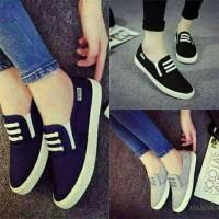 Jual Sepatu Sandal Wanita Flat Kanvas Cewek cantik branded import terbaru Murah