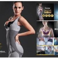 Jual Dijamin. Natural Bamboo Slimming Suit Baju Pelangsing Tubuh Murah