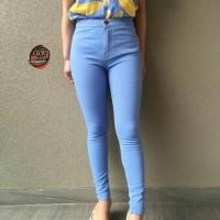 Jual highwaist light blue / celana jeans high waist Murah