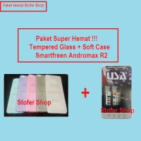 [PAKET] Softcase + Tempered Glass SmartFreen Andromax R2