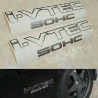 stiker mobil Honda i-vtec SOHC (jazz brio city dll)