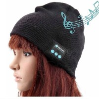harga Topi Kupluk + Headset Bluetooth / Wireless Earphone Headphone [HITAM] Tokopedia.com