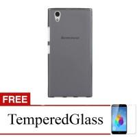 Case for Lenovo Vibe P1M - Abu-abu + Gratis Tempered Glass - Ultra Thi
