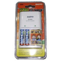 Sanyo Eco Charger include eco charger dan 4 pcs batere sanyo 2500 mA