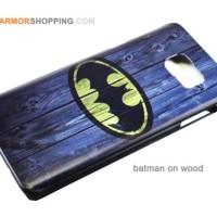 Samsung Note 5 Case Hard Motif Animated Fashion Batman On Wood