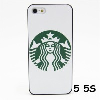 HARD CASE FASHION STARBUCKS COFFEE WHITE FOR IPHONE 5 5S