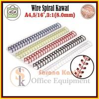 "Spiral Kawat 5/16""(3:1,F4)/Spiral Plastik/Wirebind/Mesin Jilid/Printer"