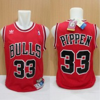 Jersey Basket Swingman Nba Hwc Chicago Bulls Scottie Pippen Red Merah