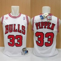 Jersey Basket Swingman Nba Hwc Chicago Bulls Scottie Pippen Putih
