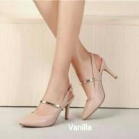 harga Sepatu Sandal High Heels Cewek Wanita Korea Cream Kerja Pesta Elegan Tokopedia.com