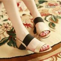 harga Sandal Flat Tali Cewek Wanita Ceper Flat Shoes Gold Korea Modis Murah Tokopedia.com